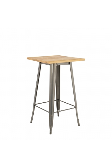 Brushed Wooden LIX High Table