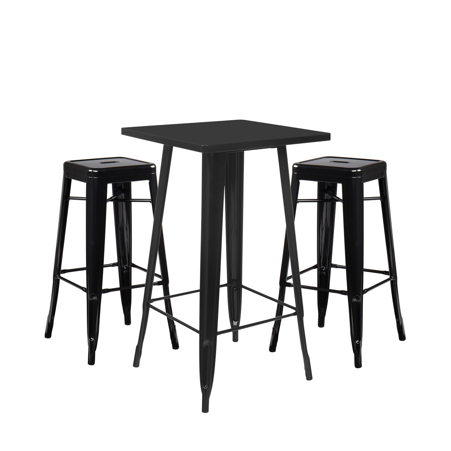 Set High Table LIX & 2 High Stools LIX, gallery image 1