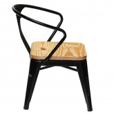 Wooden Mini Lix Kids Chair with Armrests , thumbnail image 2