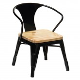Wooden Mini Lix Kids Chair with Armrests , thumbnail image 1