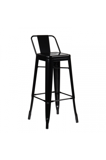 High Stool with LIX Steel Backrest
