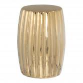 Auxiliary Round Ceramic Table (Ø28 cm) Metallized Tim, thumbnail image 1