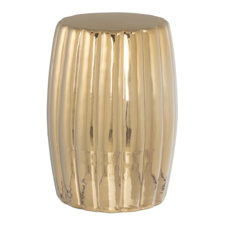 Auxiliary Round Ceramic Table (Ø28 cm) Metallized Tim, gallery image 1