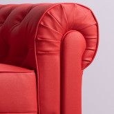 Chester Sytle Leatherette Sofa Charly, thumbnail image 2