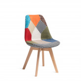 Nordic Chair Upholstered Patchwork, thumbnail image 520540