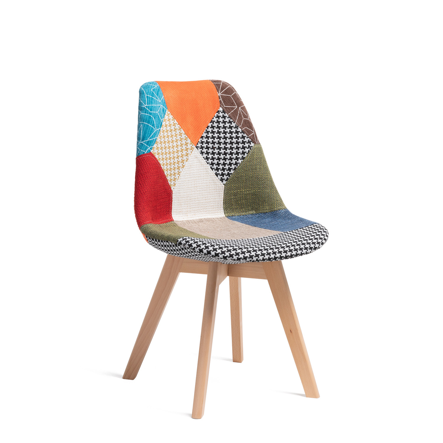 Nordic Chair Upholstered Patchwork, gallery image 520540