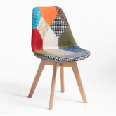 Nordic Chair Upholstered Patchwork, thumbnail image 520546