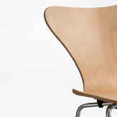 Chair in Wood and Steel Uit, thumbnail image 5