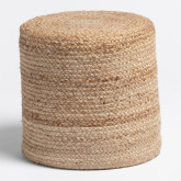 Round Pouffe in Jute Fime, thumbnail image 3