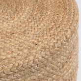 Round Pouffe in Jute Fime, thumbnail image 5