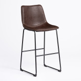 Leatherette Upholstered High Stool Ody , thumbnail image 3