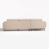 4 seater Chenilla Chaise Longue Sofa Agon , thumbnail image 4