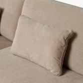 4 seater Chenilla Chaise Longue Sofa Agon , thumbnail image 5