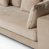 4 seater Chenilla Chaise Longue Sofa Agon , thumbnail image 6