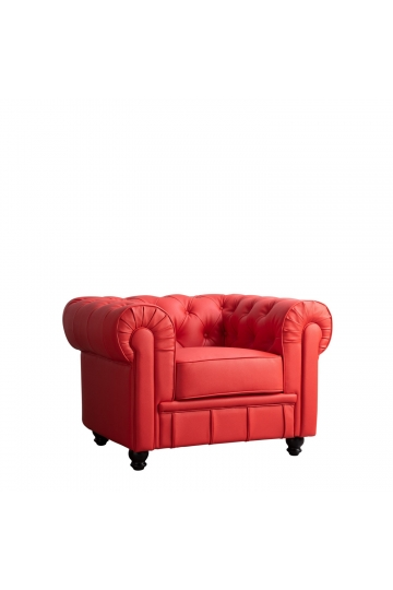 Chester Sytle Leatherette Sofa Charly