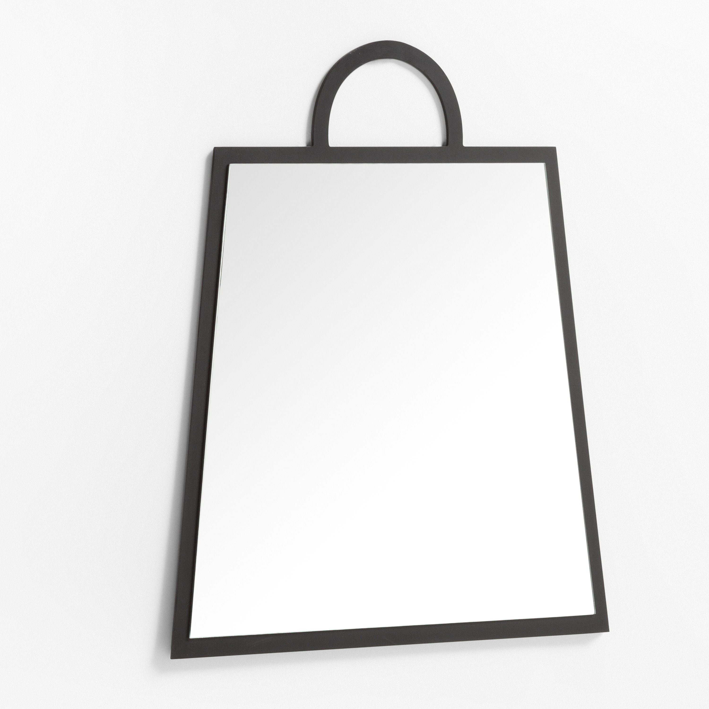 Rectangular Wall Mirror in MDF (69x59 cm) Calen, gallery image 1