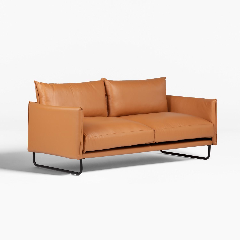 Leatherette 3 Seater Sofa Baldur, gallery image 1