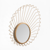 Metal wall mirror (61.5x61 cm) Bïggy, thumbnail image 2