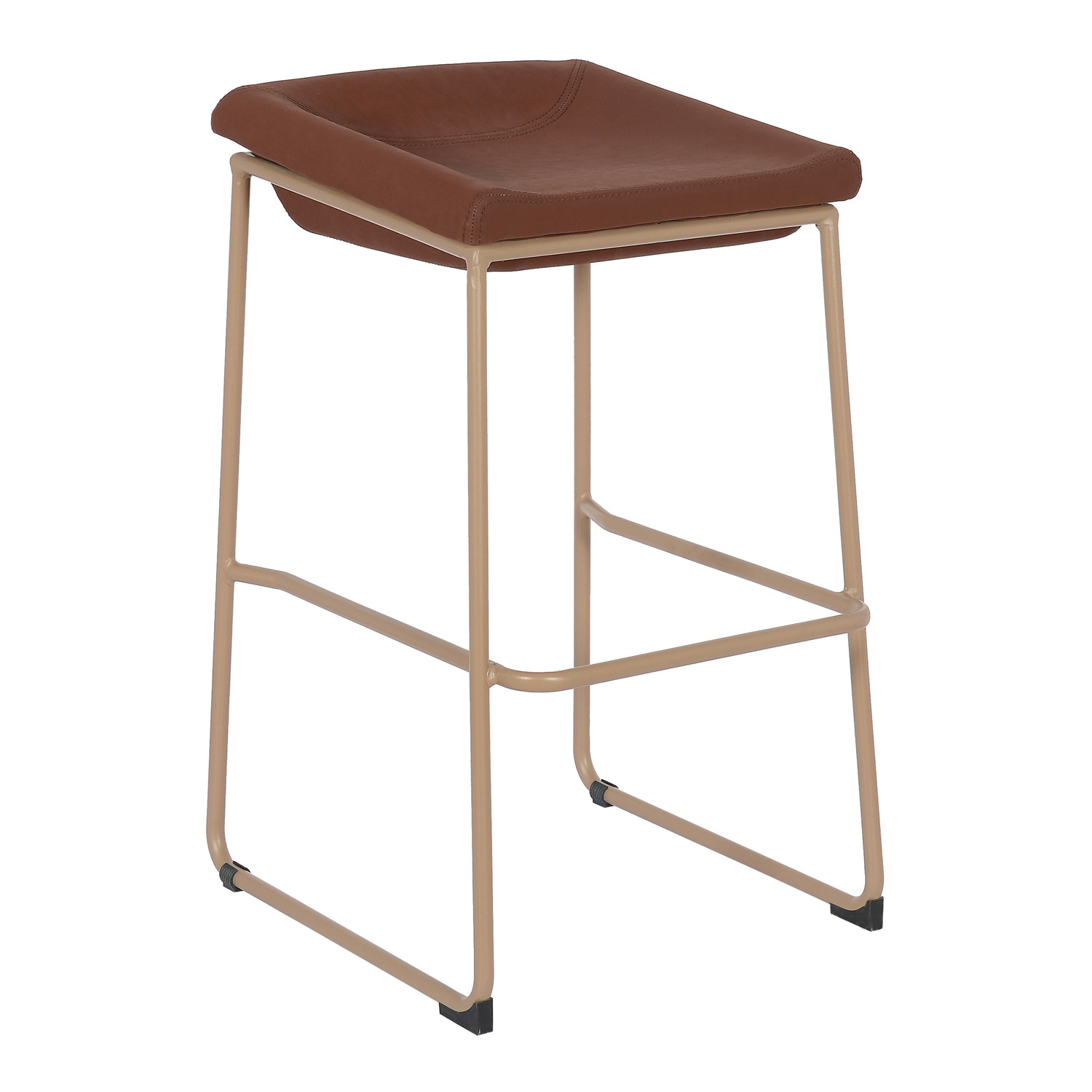 High Leatherette Stool (67 cm) Adhon, gallery image 1