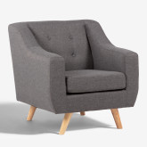 Fabric and Linen Armchair Bermy, thumbnail image 2