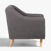 Fabric and Linen Armchair Bermy, thumbnail image 3