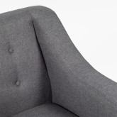 Fabric and Linen Armchair Bermy, thumbnail image 4