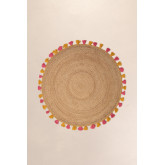 Round Natural Jute Rug (Ø157 cm) Shocks, thumbnail image 2