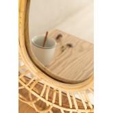 Oval Rattan Wall Mirror (60.5x51.5 cm) Zaan, thumbnail image 3