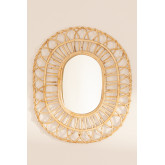 Oval Rattan Wall Mirror (60.5x51.5 cm) Zaan, thumbnail image 4