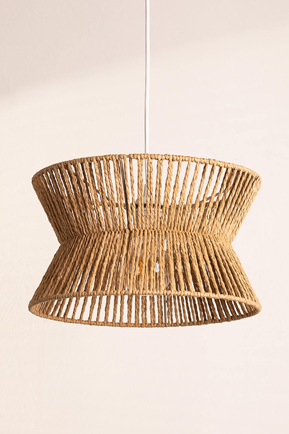 Braided Paper Ceiling Lamp Bonny , gallery image 1