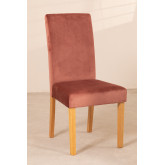 Pack of 2 Velvet Dining Chairs Cindy, thumbnail image 3