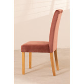 Pack of 2 Velvet Dining Chairs Cindy, thumbnail image 4
