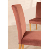 Pack of 2 Velvet Dining Chairs Cindy, thumbnail image 6