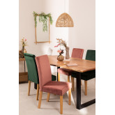 Pack of 2 Velvet Dining Chairs Cindy, thumbnail image 1