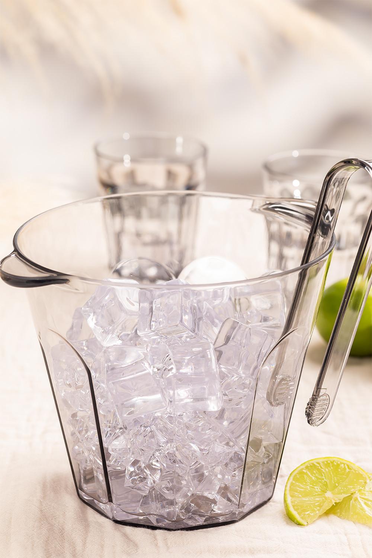 Set of  Methacrylate  Ice Bucket with Tongs Brenda, gallery image 1