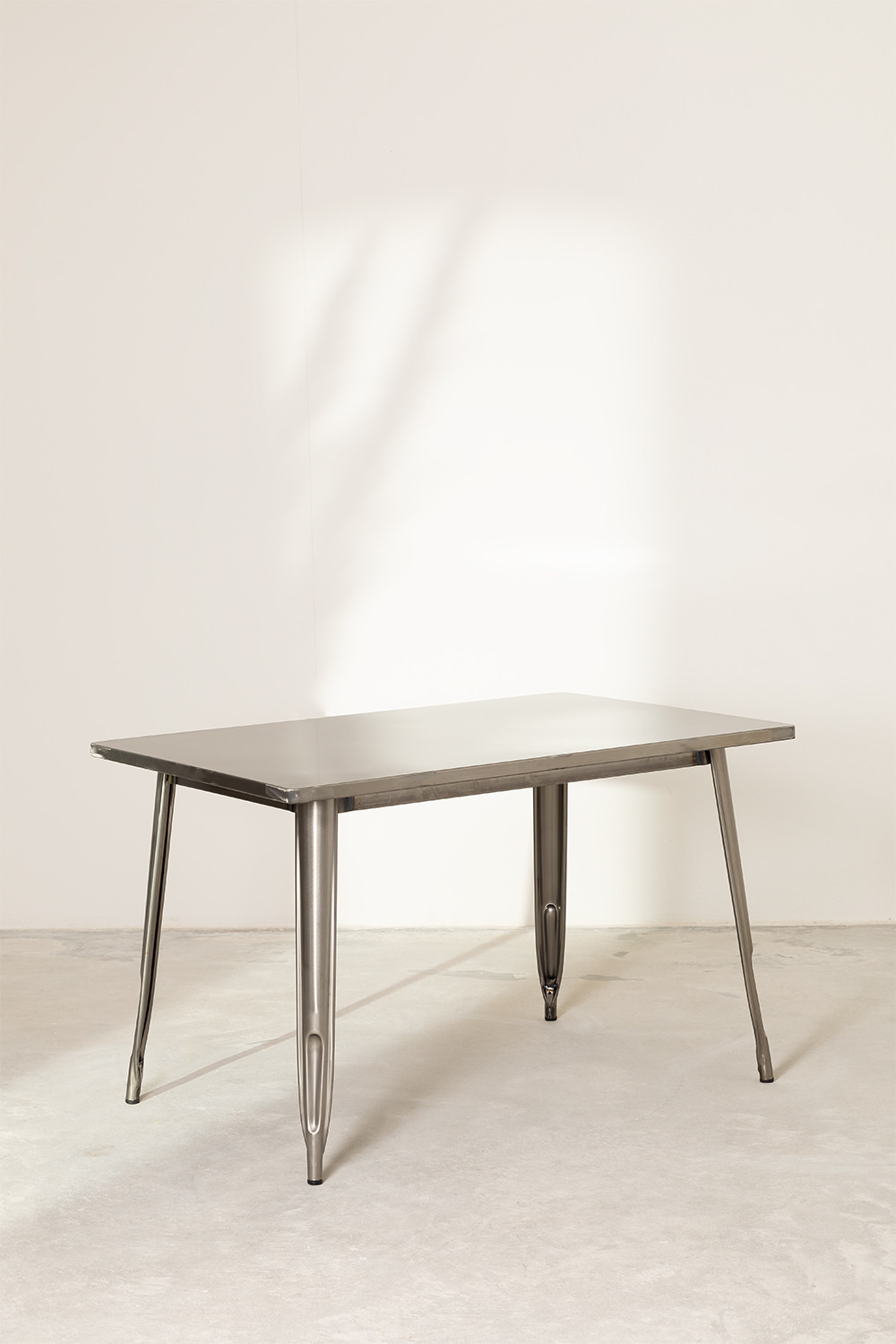Brushed Steel Dining Table (120x80 cm) LIX , gallery image 1