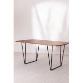 Rectangular Dining Table in Walnut Wood (160x90 cm) Thara, thumbnail image 732375