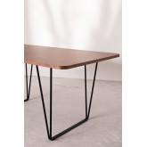 Rectangular Dining Table in Walnut Wood (160x90 cm) Thara, thumbnail image 732381