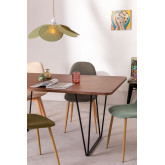 Rectangular Dining Table in Walnut Wood (160x90 cm) Thara, thumbnail image 732393