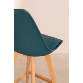 Pack 4 Medium Stools with Upholstered Cushion Nordic SK , thumbnail image 5
