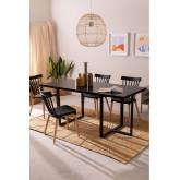 Rectangular Dining Table in Walnut Wood (180x80 cm) Rubha, thumbnail image 734758
