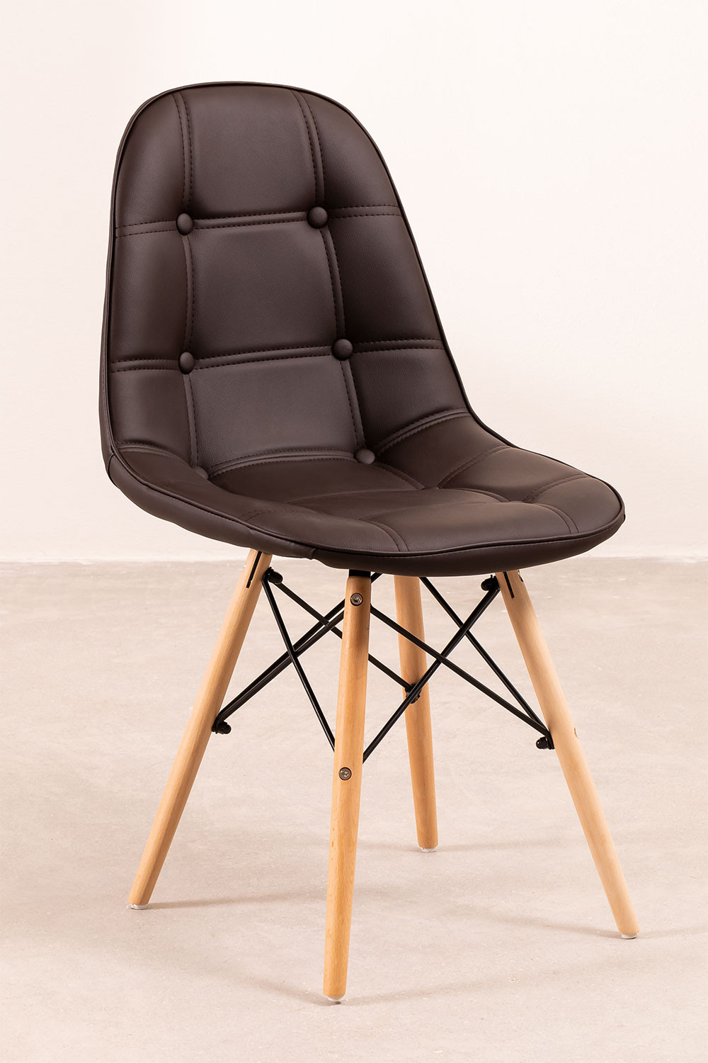 Upholstered Leather Dining Chair at Capitoné Scand, gallery image 741715