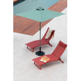 Parasol in Fabric and Steel (182x182 cm) Olek, thumbnail image 1