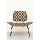 Corvik Synthetic Wicker Garden Lounge Chair, thumbnail image 5