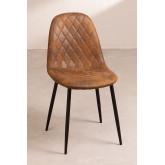 Glamm Diamond Leatherette Chair, thumbnail image 1