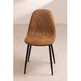 Glamm Diamond Leatherette Chair, thumbnail image 3
