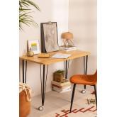 Steel & Melamine Desk on Caster  Nâpe, thumbnail image 6