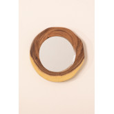 Round Wall Mirror in Wood (33.5x30.5 cm) Vrao, thumbnail image 3