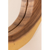 Round Wall Mirror in Wood (33.5x30.5 cm) Vrao, thumbnail image 4