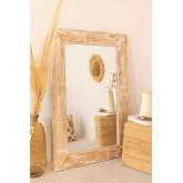 Rectangular Wall Mirror in Wood (120x80 cm) Vuipo, thumbnail image 1